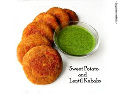 Sweet Potato & Lentil Kebabs - Soft, Delicious and Healthy Kebabs for your weekend noshing. Use them as snacks, sides or filling in wrap/burgers. #Vegan #Glutenfree #BBQ #recipes #sweetpotatoes