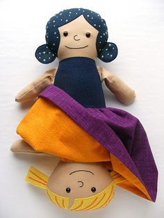 How to Make a Topsy Turvy Doll from Any Rag Doll Pattern - a free tutorial from Shiny Happy World