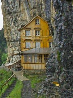 Hidden Restaurant on The Cliffs of Switzerland