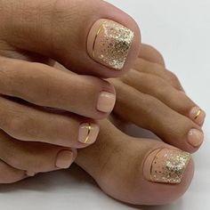 Toenail Art Designs, Pedicure Nail Designs, Manicure E Pedicure, Jamberry Pedicure, Gel Toe Nails, Feet Nails, Toe Nail Art, Toenails, Pretty Toe Nails