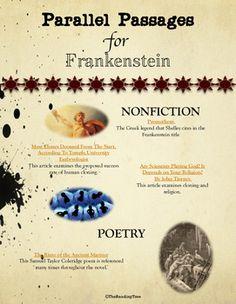 Frankenstein literature ela test essay questions entire novel parallel passages frankenstein fandeluxe Choice Image