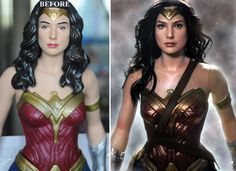 http://www.ebay.com/usr/ncruz_doll_art   Up for auction on Ebay Gal Gadot 19″ figure re-rooted and re-painted figure by Noel Cruz of ncruz.com.  Formerly A 19-inch Jakks Pacific Big Figs Wonder Woman production doll/figure, this doll/figure art includes the following features:  * full facial repaint, completely precision hand repainted featuring three dimensional repaint/shading/highlighting on eyes, eyebrows, and lips to faithfully transform the doll into the accurate and life-like likeness