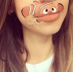 maquillages de bouche en personnages de cartoon nemo maquillages de bouche en personnages de cartoon photo maquillage lèvre Laura Jenkin...