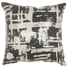 Kate Spade New York Yorkville Painterly Plaid Pillow, Black