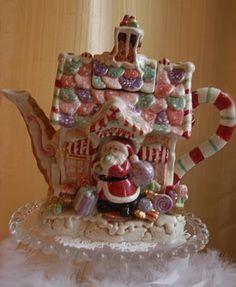 santa gingerbread tea pot.