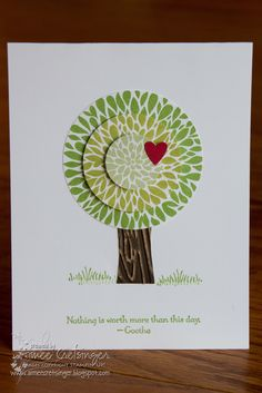 "Stampin' Up! CAS Cards  by Aimee's Creations: ""Green"" Tree using Betsy's Blossom"