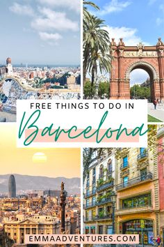 13 Feb 2020 - The best things to do in Barcelona, Spain, for free! Including things to see and do, plus tips for saving money in Barcelona! Read it now! Europe Destinations, Europe Travel Tips, European Travel, Travel Advice, Travel Guides, Budget Travel, Cool Places To Visit, Places To Travel, Places To Go
