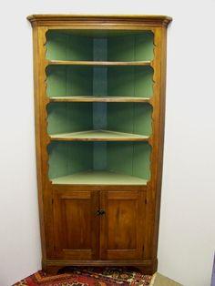 Early American Corner Cupboard Ca 1810