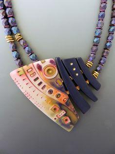 Julie Picarello's Twilight Necklace polymer clay mokume gane. Inspiration