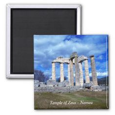 Temple of Zeus – Nemea Magnet