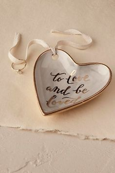 'To Love and Be Loved' Ring Dish