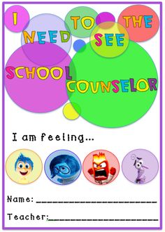 inside Out K-2 Self-Referral by The Creative Counselor