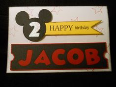 Mickey birthday card