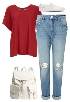 """#199"" by mintgreenb on Polyvore featuring Fine by Superfine, Miss Selfridge, H&M and Common Projects"