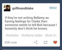 #The100 #Bellarke thats awesome acting for you