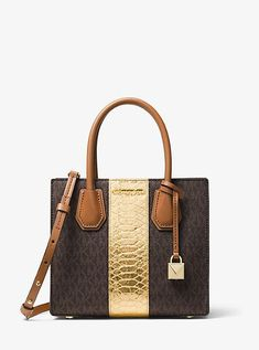 Michael Kors Mercer Logo And Embossed-Leather Crossbody.  148 and to think e764e8bad7e4d
