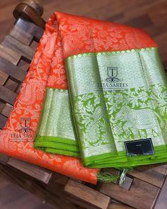Kanchi Organza Sarees, Kanjivaram Sarees Silk, Indian Silk Sarees, Soft Silk Sarees, Kids Blouse Designs, Silk Saree Blouse Designs, Teja Sarees, Wedding Saree Collection, Wedding Silk Saree