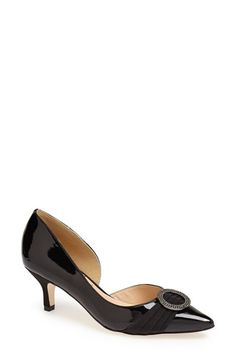 J. Reneé 'Borish' Half d'Orsay Patent Leather Pump available at #Nordstrom $109.95 great style......:)