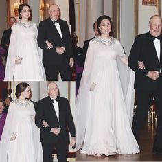 The Duke and Duchess of Cambridge concluded their first day in Norway with a glittering dinner held in their honour at the Royal Palace in Oslo. The Duchess was escorted to dinner by King Harald. via ✨ @padgram ✨(http://dl.padgram.com)