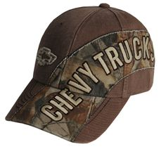Love this! I have a GMC but they all the same. I want it!! Chevy Trucks Camo Cap