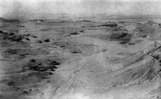 Photograph taken at noon, August 7th, 1945, of the sand-sea, Qattara Depression, Egypt