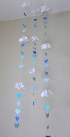 Baby Shower Decor/3D Clouds and Raindrops by anyoccasionbanners, $26.50 Sprinkle Shower ideas!