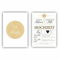 Einladungskarten - Einladung zur Hochzeit Hochzeitseinladung Wedding - ein Designerstück von Fassbender-Druck bei DaWanda