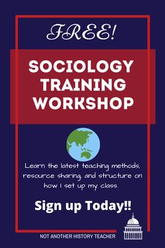 I am offering a FREE Sociology Training. I will go through how I structure my course, organize my classroom, and give away FREE Sociology materials. Sign up here #sociology #highschoolelective #notanotherhistoryteacher