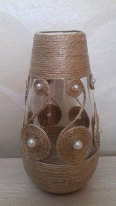 Peach coral tulle corset cylinder vase wedding centerpiece vasen ideen glass bottle crafts with rope 48 amazing lantern wedding centerpiece ideas Glass Bottle Crafts, Wine Bottle Art, Diy Bottle, Glass Bottles, Wine Bottles, Diy Home Crafts, Diy Arts And Crafts, Twine Crafts, Wedding Vases