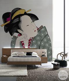 "#Oriental #Bedroom #Design Wall Mural ""Peace"" by PIXERS"
