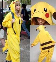 Pokemon Pikachu Unisex Adult Sleepwear Pajamas Halloween Carnival Christmas Japanese Cartoon Anime Cosplay Costume Flannel Robe