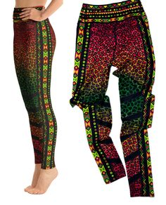 These polyester/spandex leggings will never lose their stretch and provide that support and comfort you love in unique designs. Cross Leggings, Yoga Leggings, Conversational Prints, Leopard Print Leggings, Border Print, The Ordinary, Printing On Fabric, Polyester Spandex, Parachute Pants