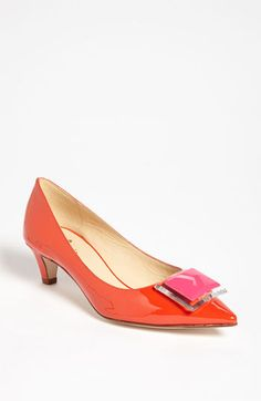 Cute, heel looks comfortable, and orange. What more could you ask for!