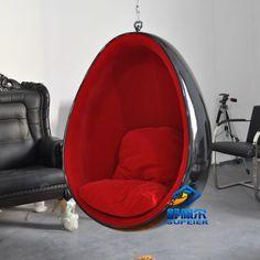Supeier colgante del huevo forma moderna silla del ocio del diseño muebles para el hogar de fibra de vidrio personalizable(China (Mainland))