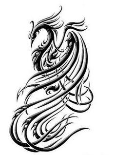 phoenix - line art possibility.  Slightly celtic flair?