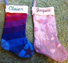 Wrap scrap stockings - I would LOVE to make the girls stockings from wraps I carried them in as babies <3