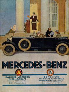 Vintage German Mercedes-Benz Poster