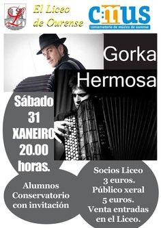 Gorka Hermosa en Liceo de Ourense, Ourense music musica concerto concierto