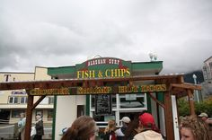 It's all about the food!  Ketchikan (Corner of Front Street/Mill street)