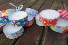 Teelichter verschönern - how to  embellish tealights