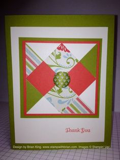 Thank You Quilt Card by Brian, admittedly CASE'd from Mary Fish -- both are nice designs