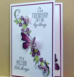 Beauty Abounds (JanB Cards) Stampin' Up! Ideas Scrapbook, Scrapbook Cards, Scrapbooking Layouts, Handmade Birthday Cards, Greeting Cards Handmade, Butterfly Cards Handmade, Butterfly Crafts, Stampin Up, Up Book
