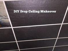 DIY Drop Ceiling Makeover