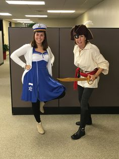 creative halloween costume for the office sailor and pirate
