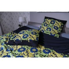 WaxinDeco Linge de lit - Wax et Coton - Pavots Bleus - 240*220cm/ eshop.waxindeco.com