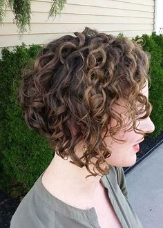 Inverted Bob for Short Curly Hair