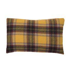 Yellow Tartan Cushion