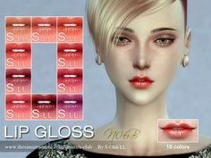 The Sims Resource: Lipstick F06B by S-Club • Sims 4 Downloads