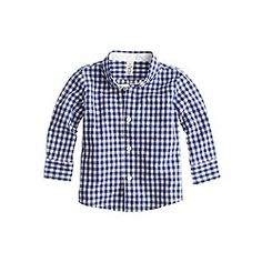 Baby shirt in baltic gingham