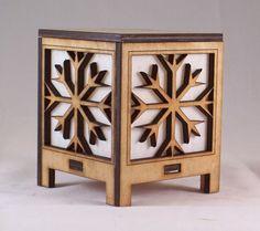 Laser Cut Snowflake tea light   BarrysWoodWorks - Woodworking on ArtFire